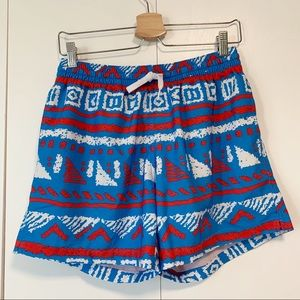 "Chubbies 5.5"" Stretch Swim Trunks Red White Blue M"